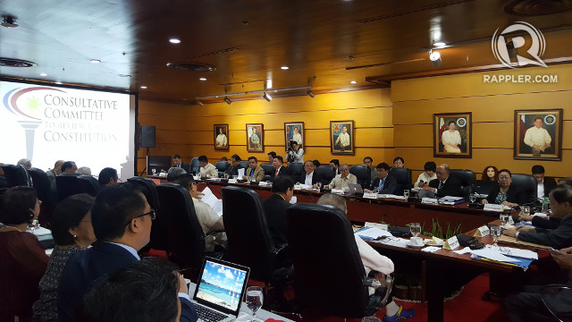 VOTING DAY. The Consultative Committee approves its draft federal constitution for submission to President Rodrigo Duterte. Photo by Pia Ranada/Rappler