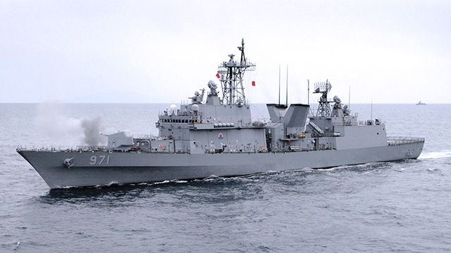 DENIAL. South Korea denies Japan's allegations, insisting that the warship was only partaking in a humanitarian rescue mission. Photo from Wikipedia