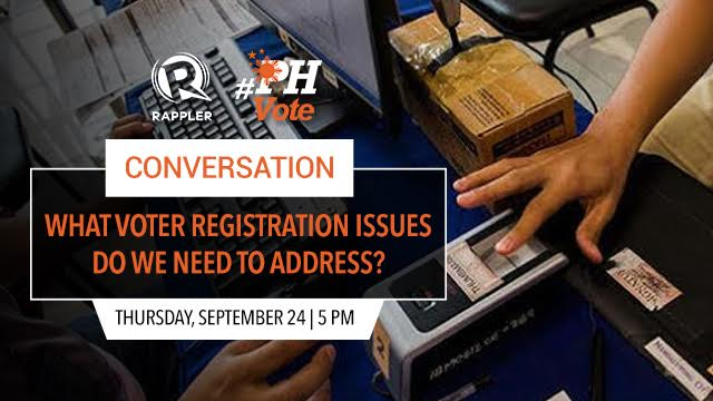 #PHVote. Let's talk about voter registration issues.