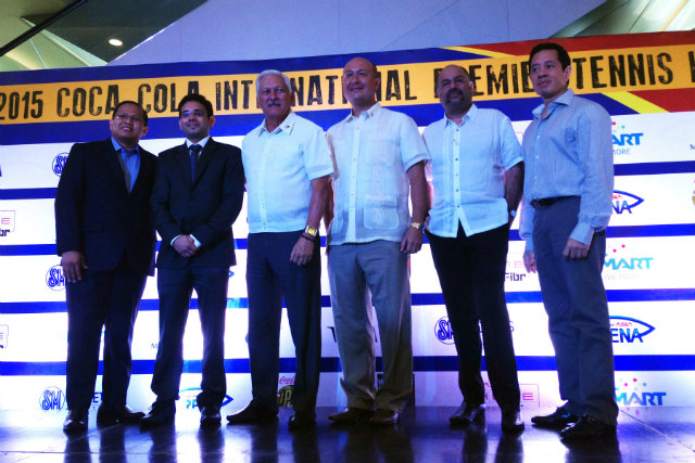 Left to right - SM Lifestyle Entertainment Inc. President Edgar C. Tejerero; IPTL VP for Operations Abhishek Ponia; Philippine Sports Commission Chairman Richie Garcia; Philippine Mavericks Co-Owner and Team Manager Jean-Henri Lhuillier; Phil Mavericks Co-Owner Haresh Hiranand; Philippine Mavericks Co-Owner Kevin Belmonte