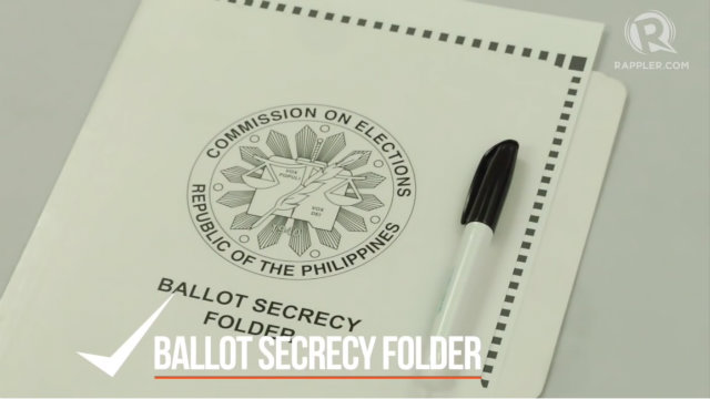 PROTECT YOUR VOTE. No one else is allowed to see your ballot. Protect it using the Comelec ballot secrecy folder. Do not take photos or makes copies of your ballot.