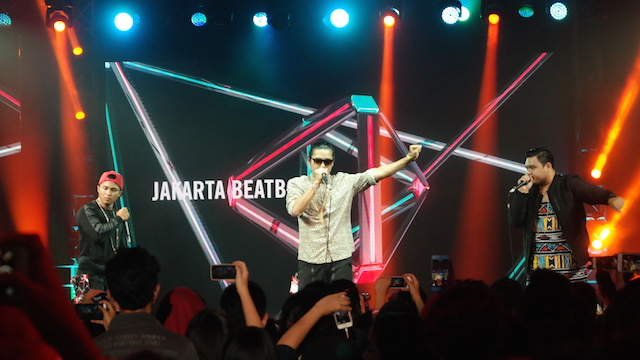 BEATBOXING. Jakarta Beatbox tidak mengecewakan para penggemarnya yang hadir. Foto oleh Sakinah Ummu Haniy/Rappler
