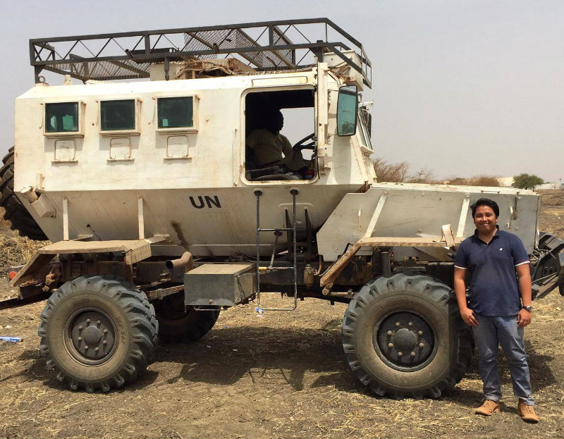 FIELDWORK. After recovering from his ordeal, Giano Libot plans to return to humanitarian work to continue helping others. Photo from Giano Libot