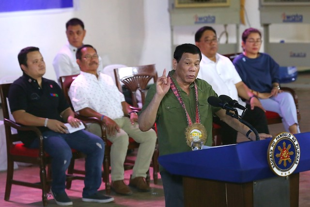 'CONFESSION'. In a speech in Kidapawan City, Cotabato, on December 29, 2018, President Rodrigo Duterte told the audience that he molested their family maid as a teenager. Presidential Photo