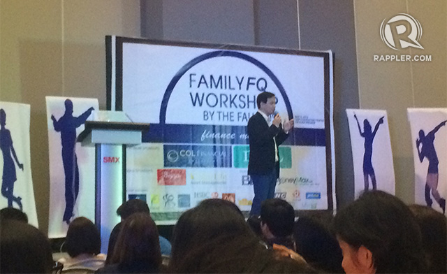 PARTNER. Marvin Fausto, Rose's husband, speaks of the responsibilities of the head of the family in setting financial goals.