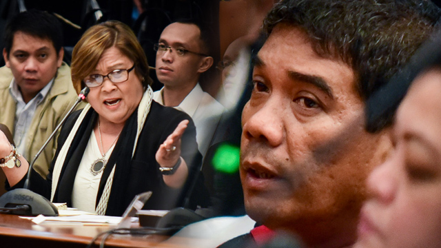 PITY. Senator Leila de Lima changes her mind and decides to face her former security aide and driver Ronnie Dayan during a Senate probe.