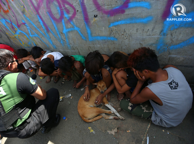 'RESCUED'. Children are among those rounded up during a Navotas drug raid on January 16, 2019. Photo by Inoue Jaena/Rappler