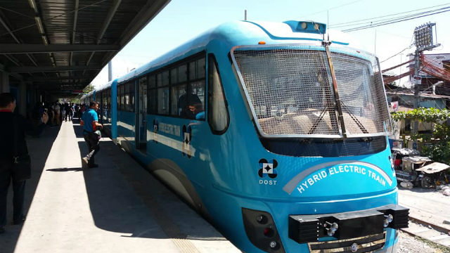 HBYRID ELECTRIC TRAIN. The DOST-developed train starts operation on May 6 via a 150-hour 'validation testing' phase. Photo from DOST
