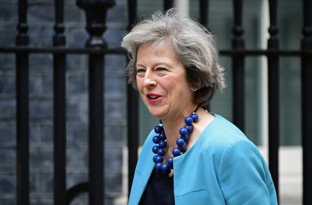 TAKE THINGS EASY. British Prime Minister Therese May says she will come to a decision over the China-backed nuclear plant in Britain in the coming month. File photo by Leon Neal/AFP