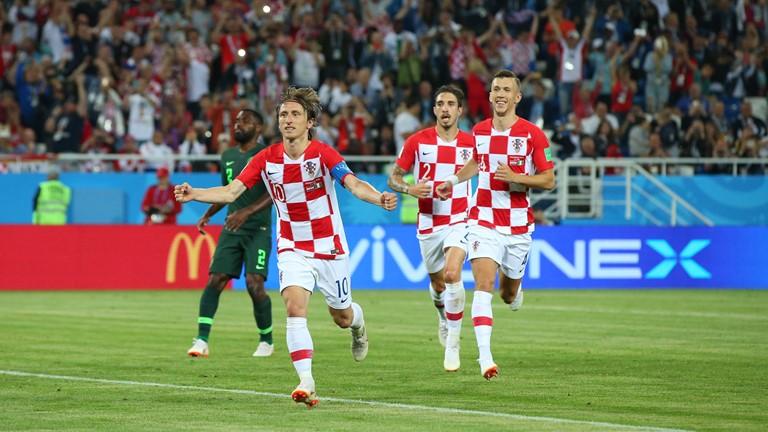 PEMIMPIN. Donasi tiga angka menempatkan Kroasia di puncak klasemen sementara grup D. Foto dari FIFA.com