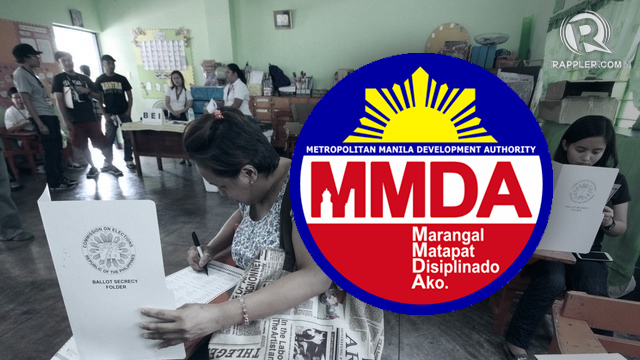 ASSIST. Metropolitan Manila Development Authority (MMDA) deploys more than 2,000 personnel for the 2016 polls.