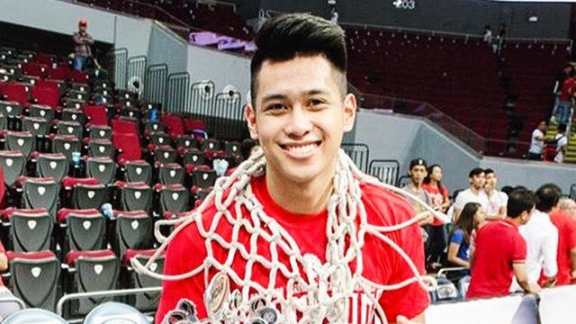 TO THE FINALS. Javee Mocon led the Red Lions to their finals matchup with the undefeated Lyceum of the Philippines Pirates. Photo from Twitter (@RealJaveeMocon)