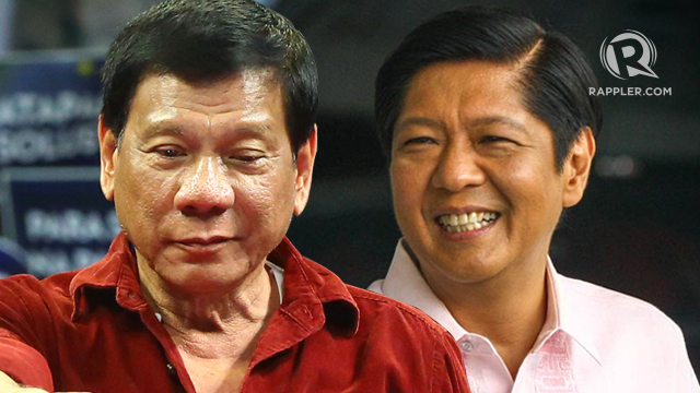 WARM TIES. President Rodrigo Duterte has openly expressed admiration and support for Ferdinand Marcos Jr.