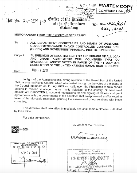 This is a screenshot of the document found on the Bureau of Customs website