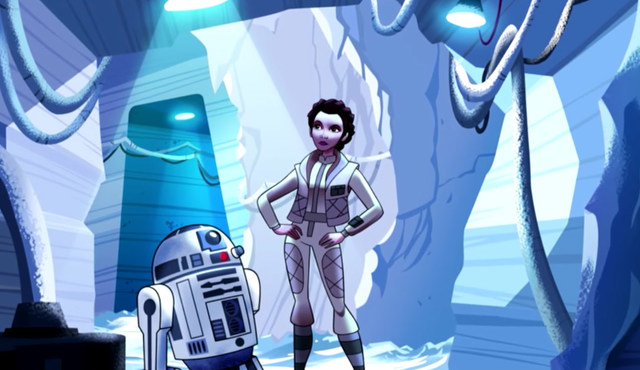 Rancangan konsep Princess Leia. Screenshot dari YouTube/ Disney