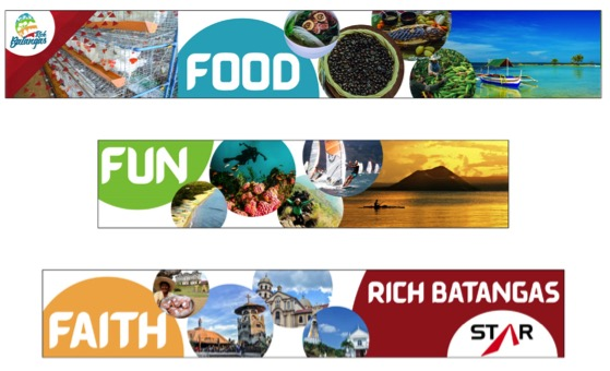 FOOD, FUN, FAITH. Batangas launches a new tourism campaign involving food, fun, and faith. Image courtesy of the Batangas Provincial Tourism and Cultural Arts Office