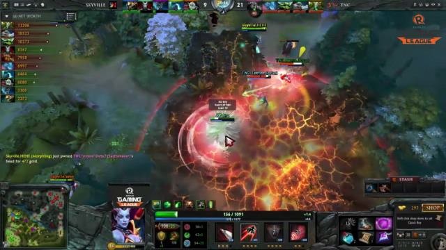 The final Game 2 engagement that ended in an Ultra Kill in favor of TNC Pro Gaming.