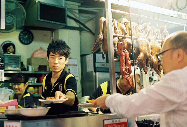 EAT LOCAL. Joy captures a unique scene in one of Singaporeu2019s famous hawker centers