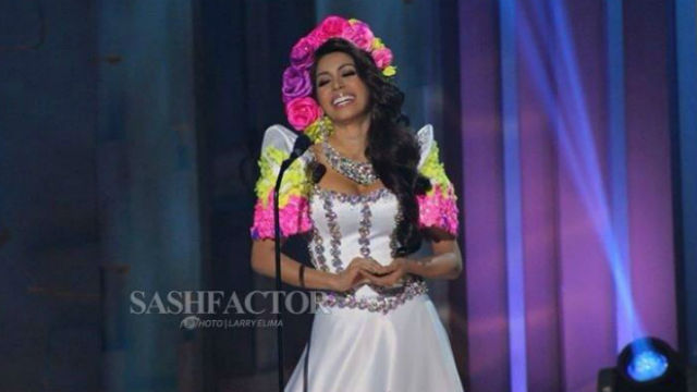 NATIONAL COSTUME. Miss Philippines Mary Jean Lastimosa during the taping of the national costume segment in Doral, Miami. Photo by Sash Factor