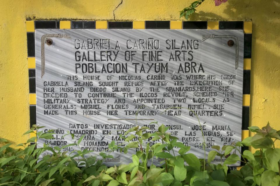 MARKER. The Gabriela Carino-Silang Gallery of Fine Arts is near the old poblacion along Abra-Kalinga Road in Tayum, Abra. Photo by Aika Rey/Rappler