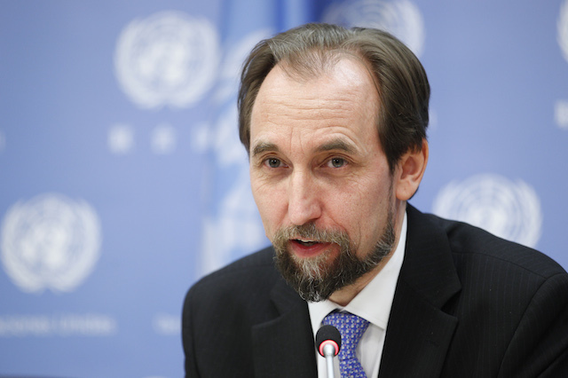 Undermines justice. United Nations High Commissioner for Human Rights Zeid Ra'ad Al Hussein says the 'shoot to kill' orders undermine justice. Photo from UN