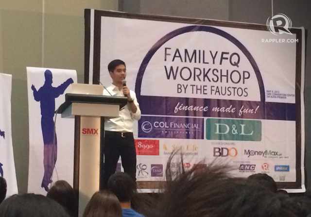 FINANCIAL GOALS. Martin Fausto, the eldest son of Marvin and Rose, talks about setting financial goals for the family and oneself.