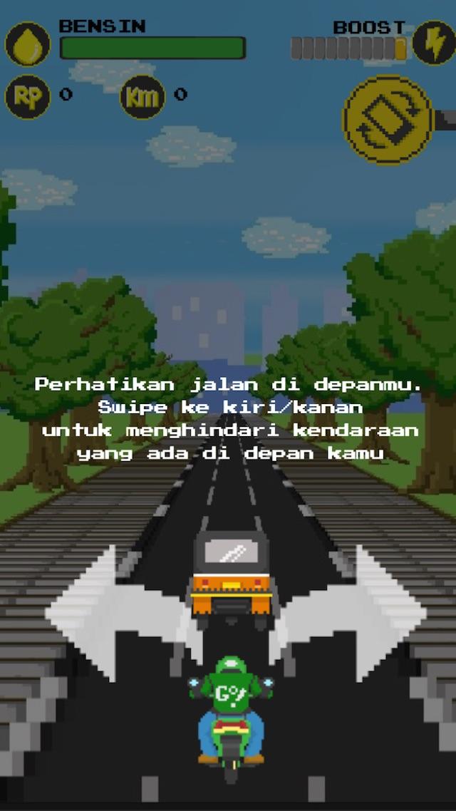 Foto dari screenshot aplikasi GoJack