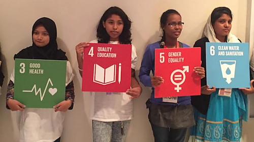 Putri Gayatri memilih isu kesehatan sebagai tujuan yang ia usung dalam Global Goals 2030. Foto dari Save the Children