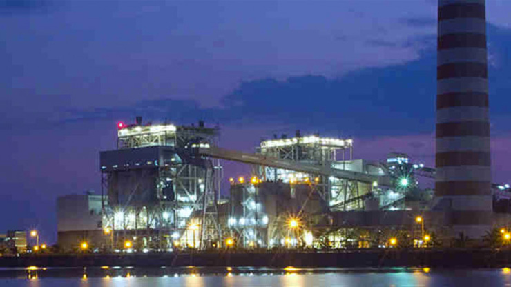 SOLD. The Masinloc coal power facility in Zambales. File photo from AES Corporation's website