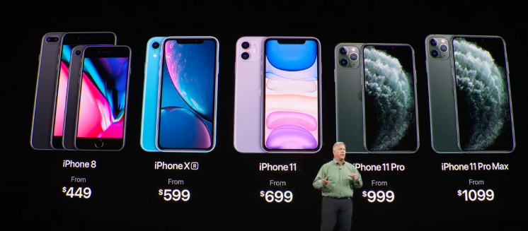IPHONE ROSTER. Screenshot from Apple live stream