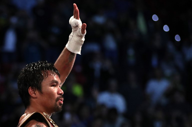 What Manny Pacquiao has accomplished in the ring won't soon be replicated. Photo by Christian Petersen/Getty Images/AFP
