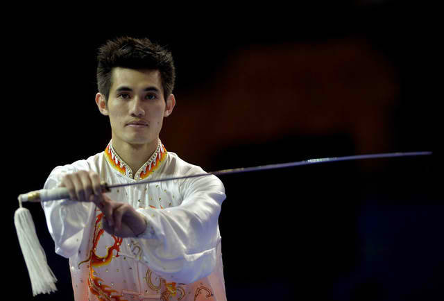 Daniel Paratac used a dynamic display of grace and precision to earn gold in Singapore. Photo by Singapore SEA Games Organising Committee/Action Images via Reuters