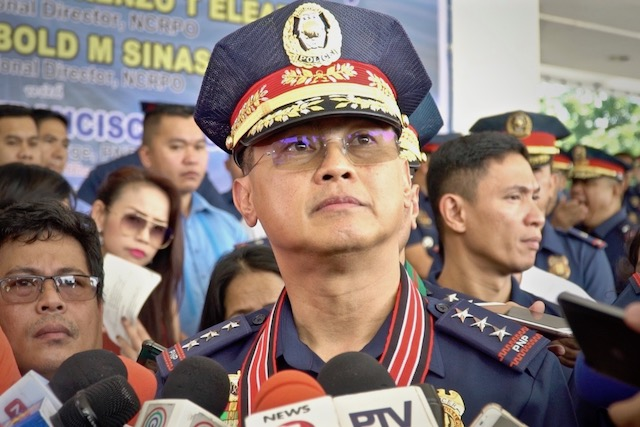 IN CHARGE. PNP officer-in-charge Lieutenant General Archie Francisco Gamboa speaks to reporters at the NCRPO headquarters in Taguig City. Photo by Nappy Manegdeg/Rappler