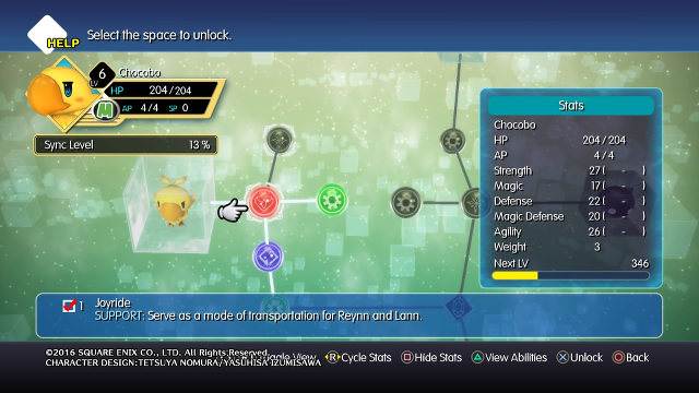 STRONGER CHOCOBOS. Make your Chocobo mirage stronger by giving it new skills and powers.
