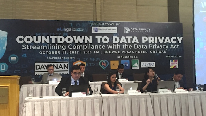 'COUNTDOWN.' Ahead of a March 2018 deadline set by the NPC, the Disini u0026 Disini Law Office tackle relevant topics on the Data Privacy Act during the seminar. Photo by Michael Bueza/Rappler