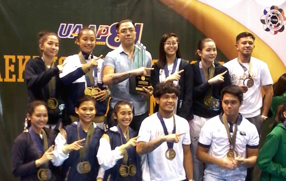 BACK-TO-BACK. Even without golden twins Rhezie and Rheza Aragon, the NU Lady Bulldogs still managed to power to another title. Photo from UAAP release