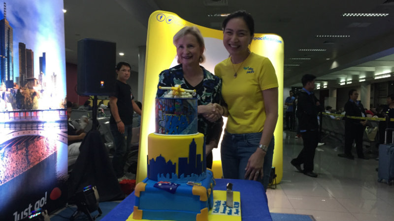 MORE THAN BUDGET TRAVELS. Australian Ambassador to the Philippines Amanda Gorely and Cebu Pacific vice president for marketing and distribution Candice Iyog during the inauguration of the Manila-Melbourne route. Photo by Bea Cupin/Rappler