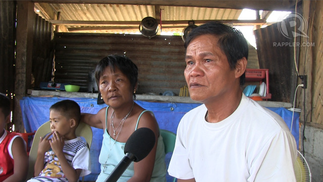 INTERVIEW. Mary Jane Veloso's parents speaks with Rappler. Photo by Buena Bernal/Rappler