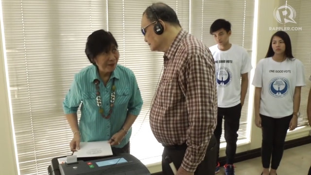 PWDs, illiterate voters, and senior citizens will be provided with headphones so they can follow the instructions of the VCM. The person assisting them can also stay with them.