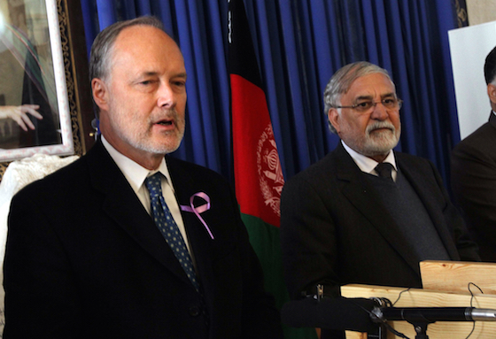 KIDNAPPED. Sayed Fazlullah Wahidi (R), the former governor of Herat province in Afghanistan, is missing after unidentified men took him in Islamabad. Photo by Jalil Rezayee/EPA