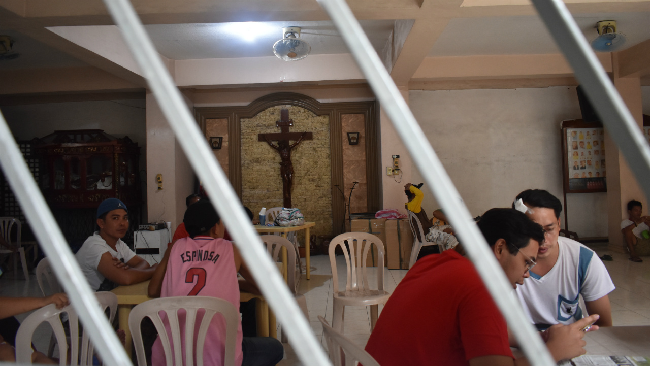 REFUGE. NutriAsia workers were taken in by the Our Lady of Fatima Parish in Marilao, Bulacan.