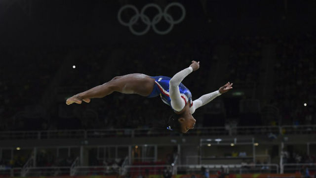 OUTSTANDING. 'Biles was so dominant that she could have fallen twice and still romped to the all-around title. Ben STANSALL / AFP