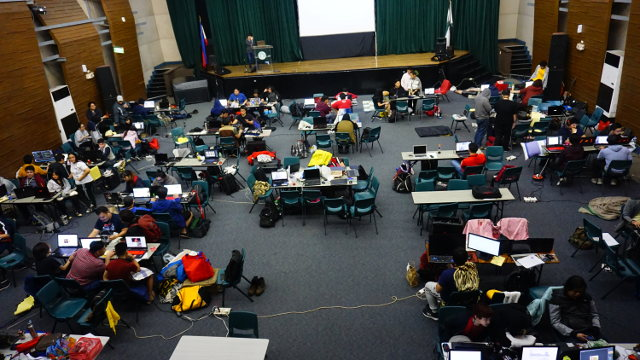 GLOBAL GAME JAM 2019. Game makers work on their creations at this 48-hour game-making marathon. Photo courtesy of GUILD