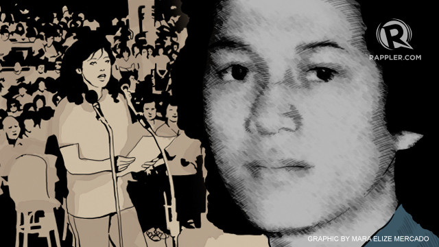 DANGEROUS QUESTION. Archimedes Trajano was killed for asking presidential daughter Imee Marcos why she was the national chairperson of the Kabataang Barangay.