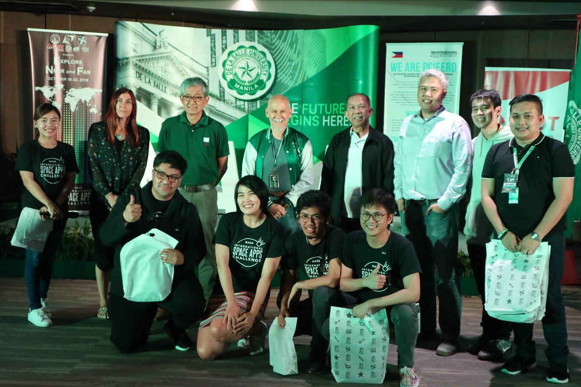 AEDES TEAM. (Front row) Dominic Vincent D. Ligot, Frances Claire Tayco, Mark Toledo, and Jansen Dumaliang Lopez. Photo from DLSU
