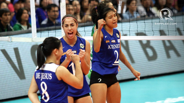 NO STOPPING THEM. The Lady Eagles flew past the entire competition in UAAP Season 77. File photo by Josh Albelda/Rappler