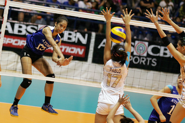 Jhoana Maraguinot of Ateneo has the highest success rate of spikes in the UAAP at 44%. Photo by Josh Albelda/Rappler