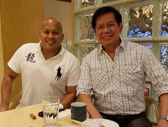 ADVICE. Senator Panfilo Lacson, police chief from 1999 to 2001, gives plain and 'simple' advice to his former subordinate and now PNP Chief Ronald dela Rosa. Photo from Dela Rosa's Facebook page.