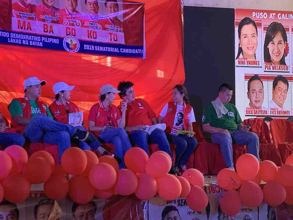 CAINTA. In Cainta, PDP-Laban adopts vice mayoralty candidate Gary Estrada. Photo by Camille Elemia/Rappler