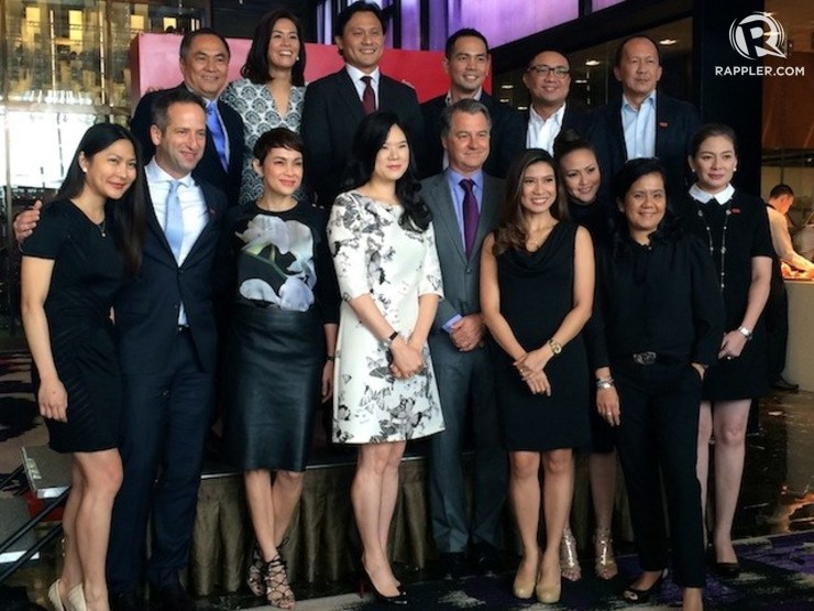 BRANDING. 9TV and CNN anchors and executives during the soft launch of CNN Philippines in Solaire Resorts and Casino on October 14 2014. Photo by Rappler